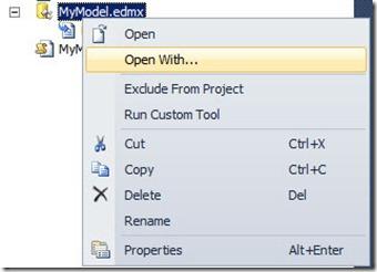 EDMX-Openwith